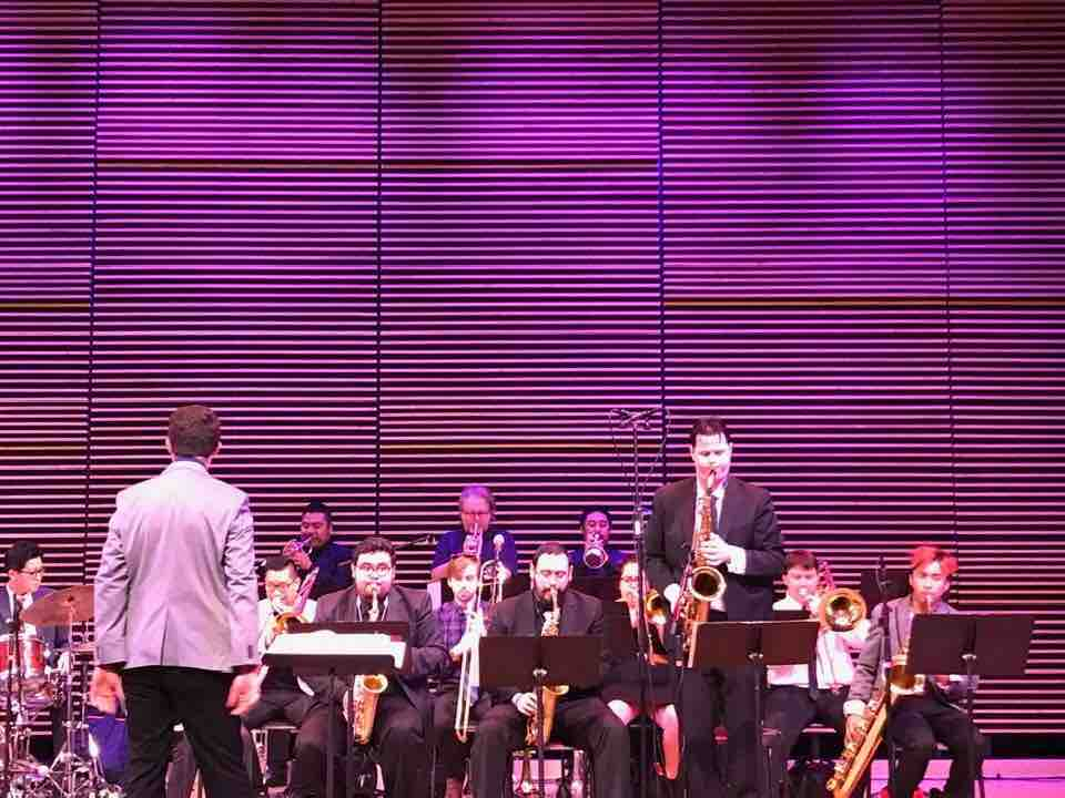 Directing the LACM big band at the PCC Jazz Day Festival