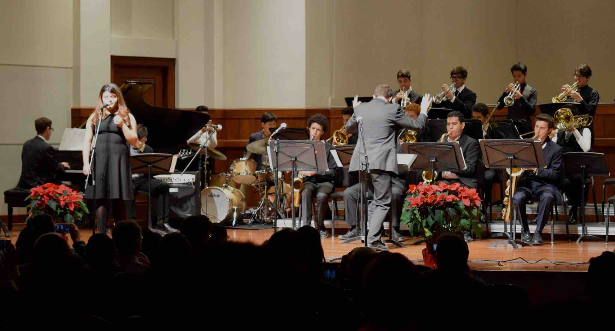 Directing USC's Community Engagement Program's Los Angeles Youth Jazz Ensemble (LAYJE) in 2016